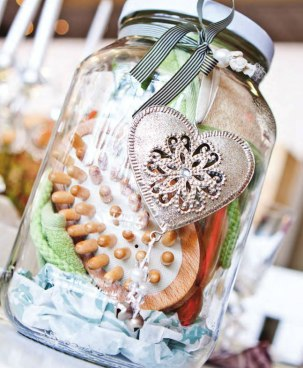 """Another clever idea from Consol - fill one of the bigger glass jars with a home """"spa"""" fun pack 
