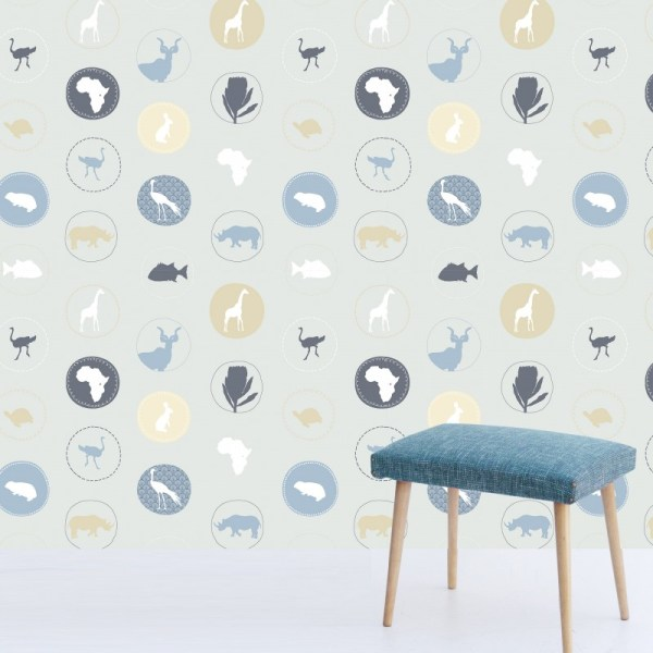 """LovemyAfrica"" Wallpaper by Kristen Morkel available through Design Kist 