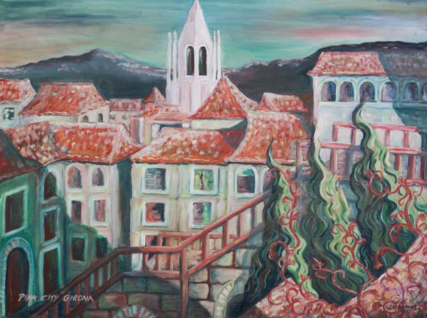 Pink City Girona by Karen Cochloviusres