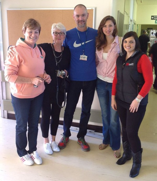 From left: Bev van der Westhuizen of PG Bison; Rose McClement of Design Monarchy; Dr Juan Klopper - Head of Acute Surgery Ward at Groote Schuur Hospital; Nadia Nel of PG Bison; and Monique Da Costa of Easylife Kitchens - a winning team I think!