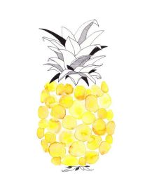 Spotted Pineapple Watercolour Print by corejewellery via Etsy | via https://www.etsy.com/au/listing/171191764/pineapple-spots-dots-circles-tropical?ref=related-0