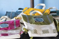 "Repurpose Schoolbag by Rethaka | To vote for this object, SMS ""BAG 4 MBOISA"" to 40619."