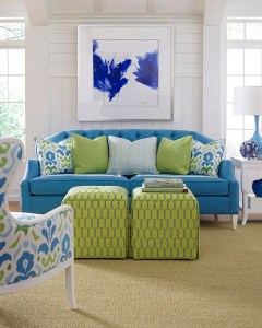 "To commemorate ""Greenery,"" the PANTONE® Color of the Year 2017, fabric furniture manufacturer Taylor King presents a selection of upholstery that proudly features the lively shade. From modern takes on traditional prints to geometric embroideries, they offer a bright green accent to suit any taste and any space."