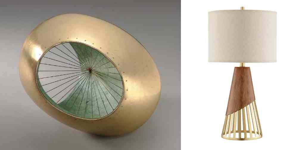 "Barbara Hepworth - ""Sculpture with Colour and Strings""; Jasper Table Lamp for J. Alexander"
