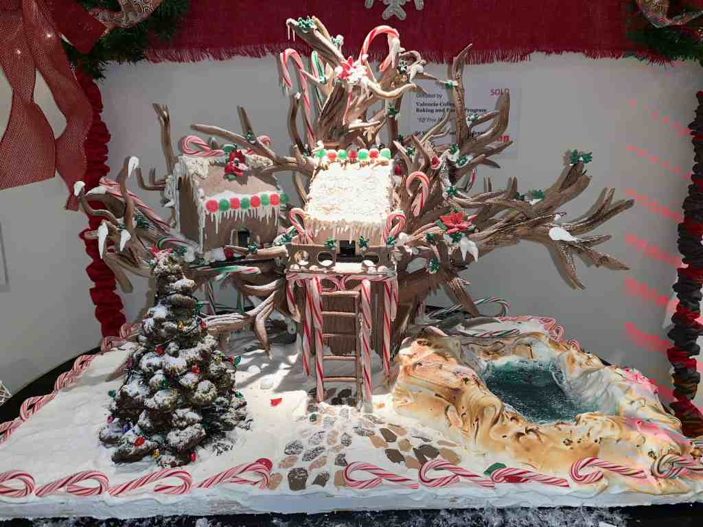 Designer Gingerbread Tree House at Orlando Museum of Art event, Festival of Trees.