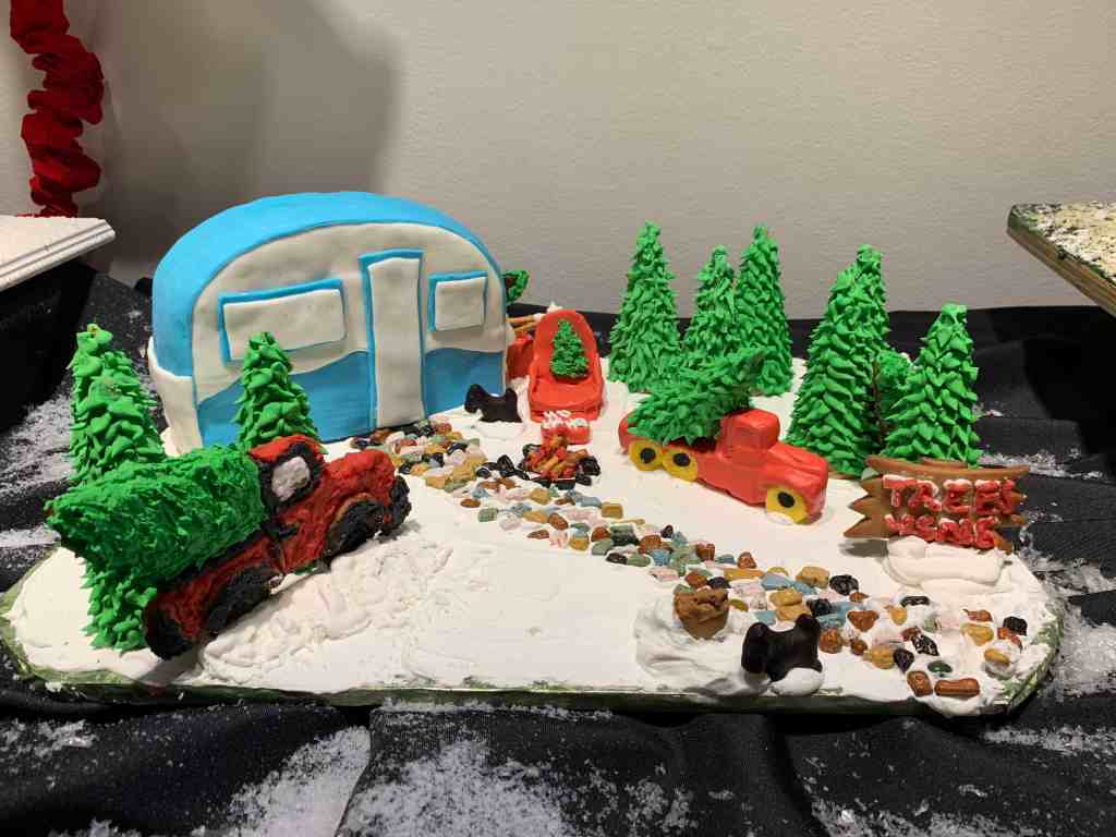 Designer Gingerbread Camper at Orlando Museum of Art event, Festival of Trees.