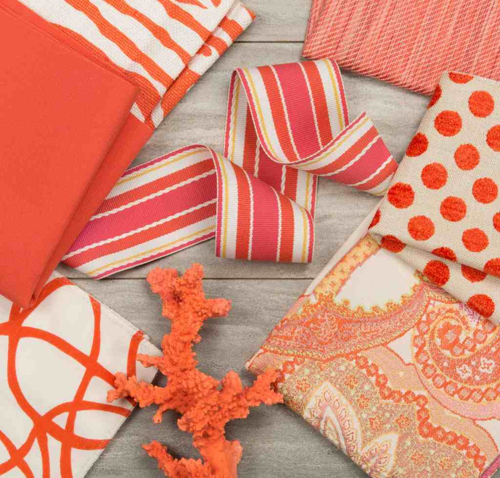 Pantone Color of the Year 2019 Home Interior Fabrics in Living Coral by Kravet Photo Credit: Kravet