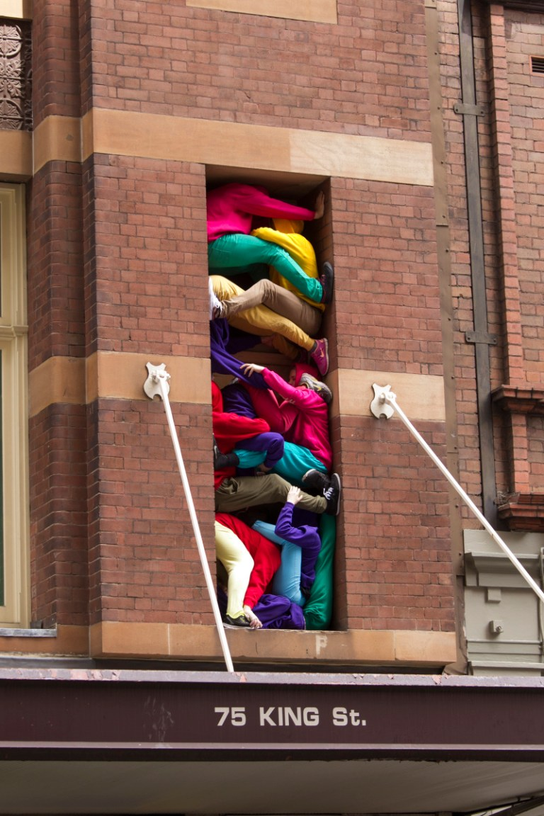 Bodies in Urban Spaces as part of Art and About Sydney. Concept: Willi Dorner. Images: courtesy of City of Sydney