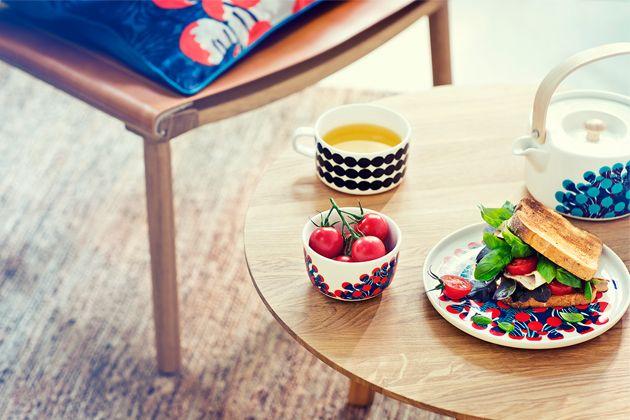Marimekko 2015 collection with designs by Finnish artist Kustaa Saksi.