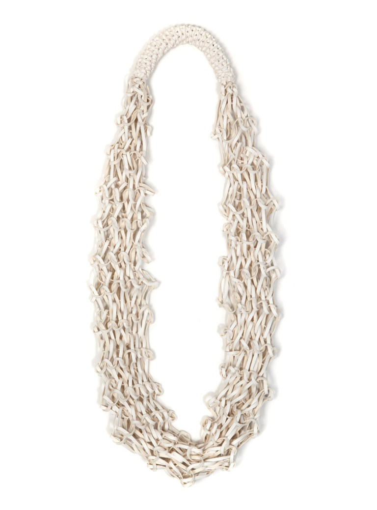 Scented White Cocoon necklace, Scented Intoxication. Photo: Supplied