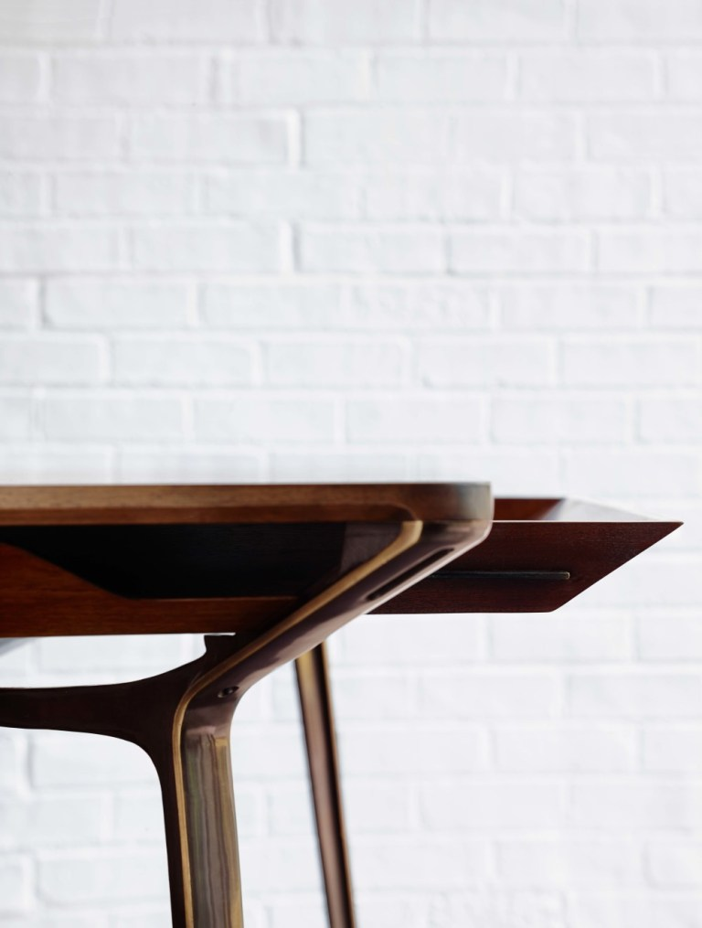 Detail of underside, Carafe table by Charles Wilson. Image: supplied