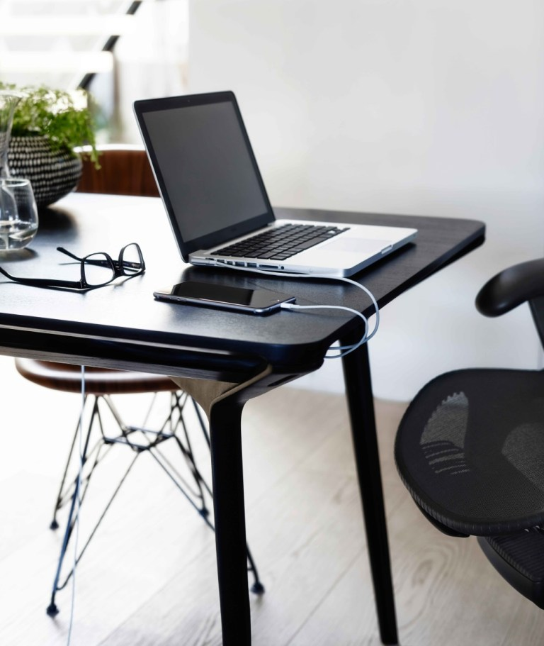 Laptop with Carafe table. Image: supplied