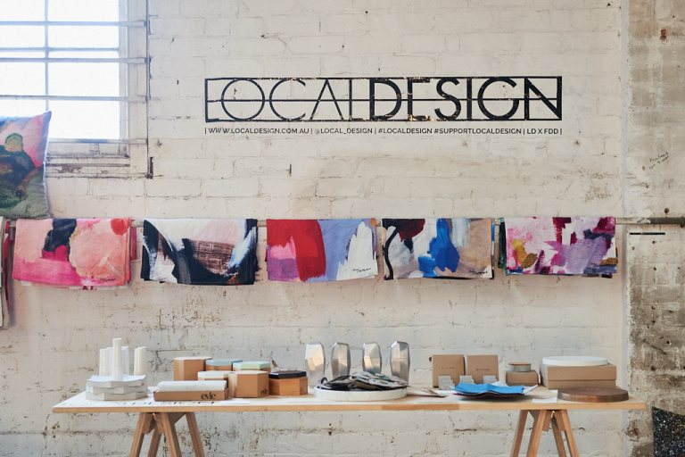 Local Design had work for sale at Factory Design District. Photo: Fiona Susanto