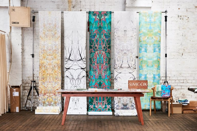 Simcox wallpapers at Factory Design District. Photo: Fiona Susanto