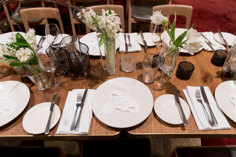 Dinner setting, Iittala relaunch Sydney. Image: supplied