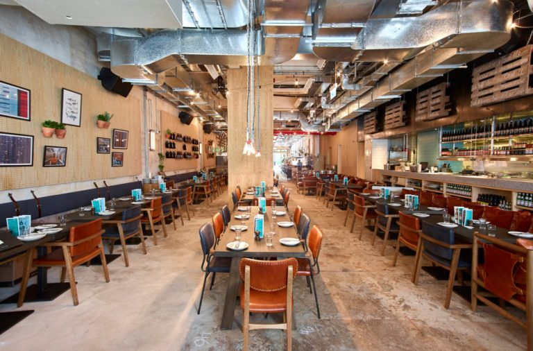 Rear dining at Little Creatures Hong Kong by Charlie & Rose. Image: supplied