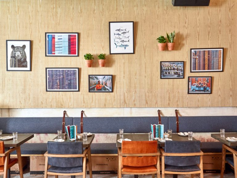 More pegboard compositions at Little Creatures Hong Kong by Charlie & Rose. Image: supplied