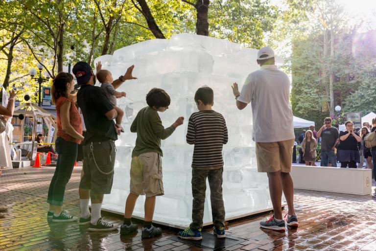 Daytime, Ice Cube by Olsen Kundig as part of Seattle Design Festival. Photo: Eirik Johnson