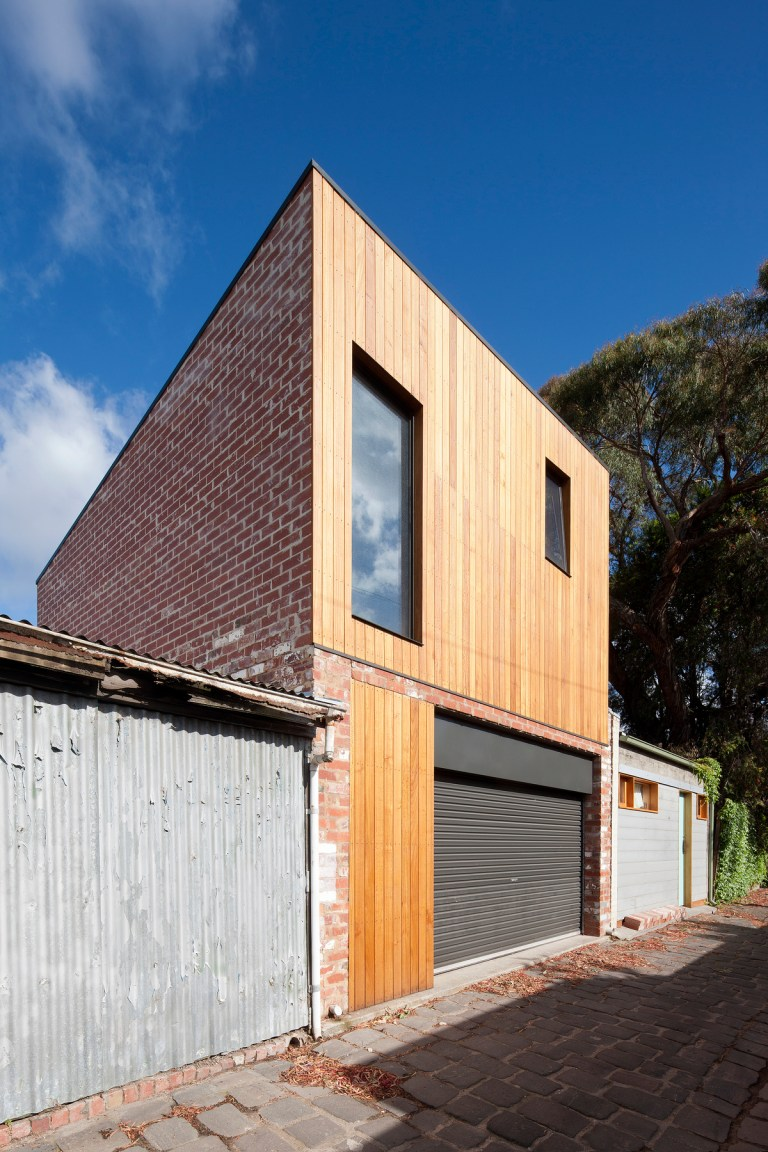Rear addition from the laneway, Carlton Cloister House by MRTN Architects. Photo: Shannon McGrath The Design Writer blog