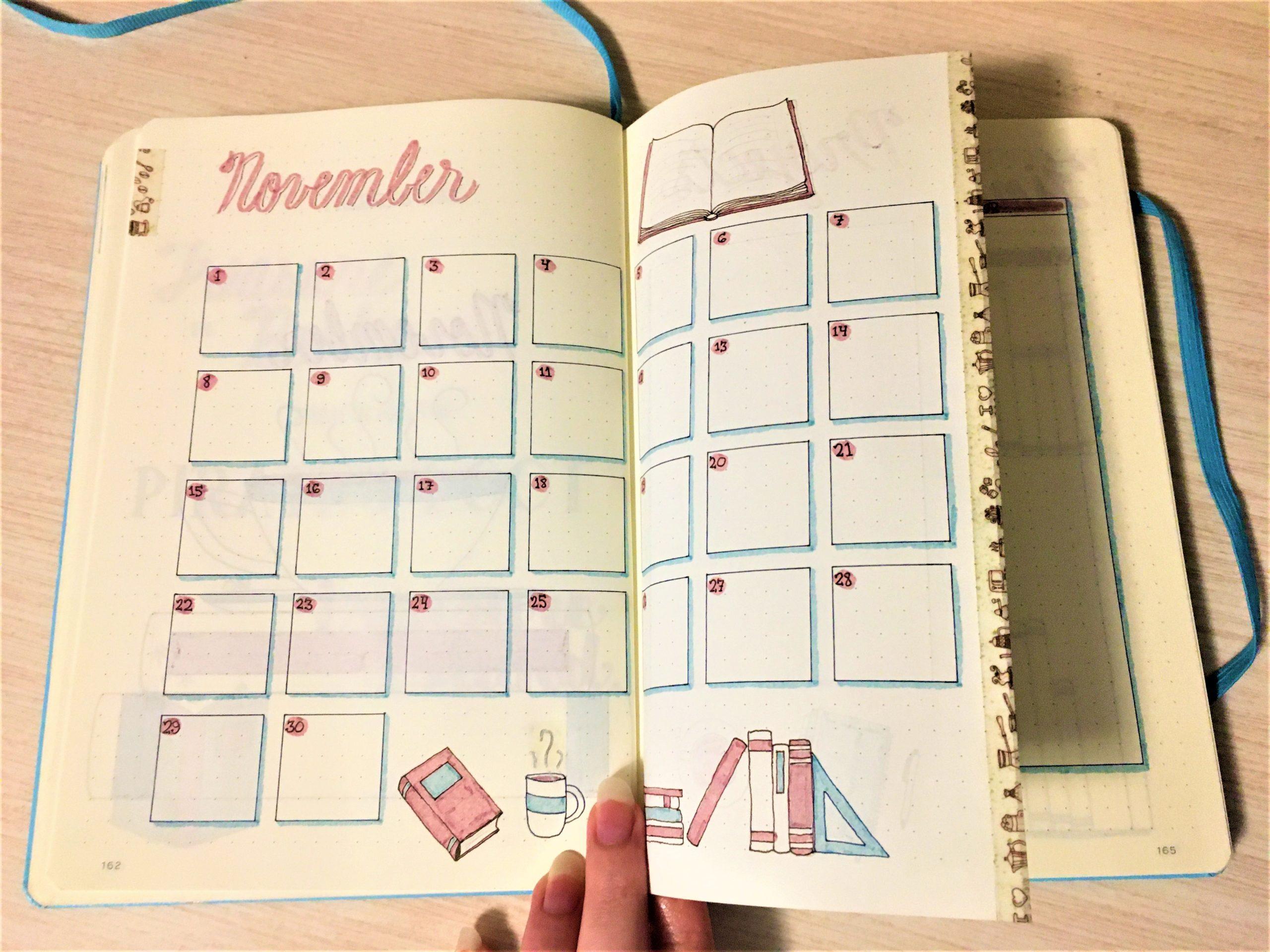 Dutch Door Monthly Calendar Spread