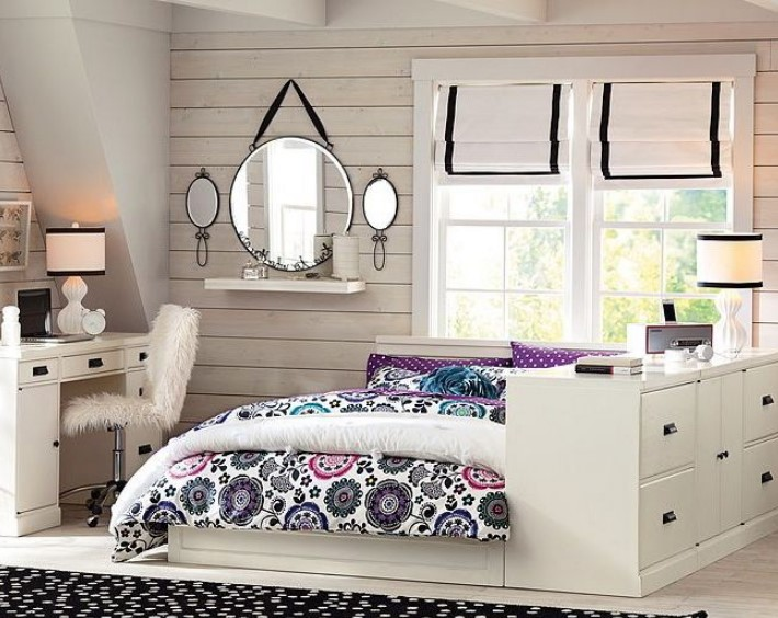50 Cute Teenage Girl Bedroom Ideas | How To Make a Small ... on Girls Bedroom Ideas For Very Small Rooms  id=94199