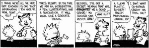 Calvin and Hobbes, plastic report