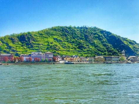 View of St. Goarhausen along the Rhine
