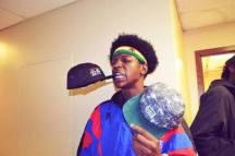 Joey Bada$$ with kilogram hat