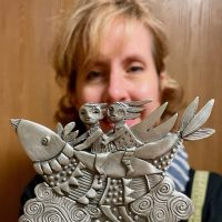 Leandra Drumm creates whimsical designs in pewter and glass