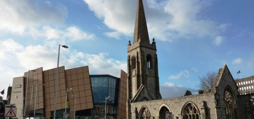 Charles Church and Drake Circus Shopping Centre, Plymouth