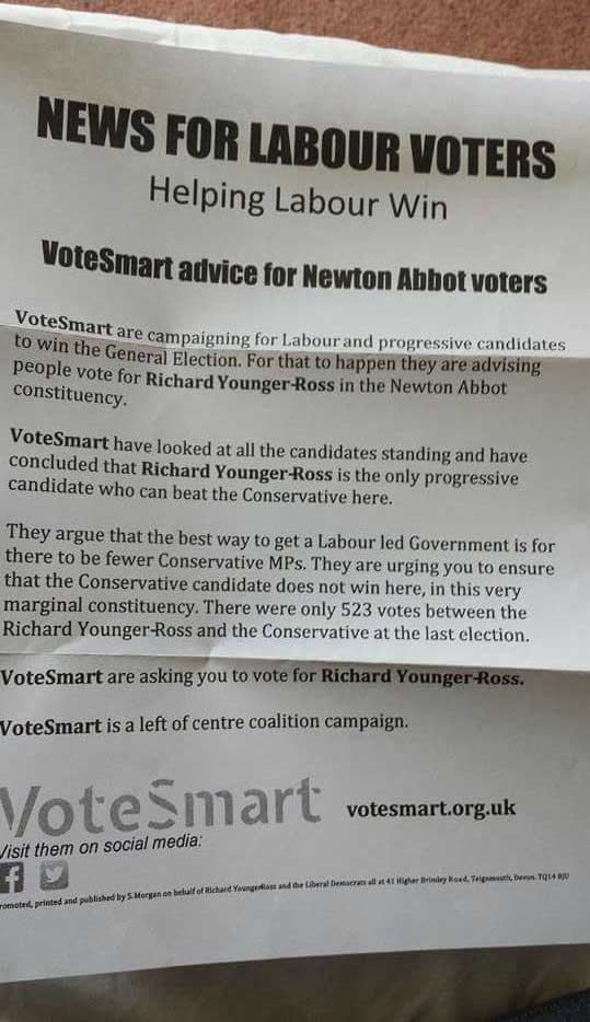 Lib Dem Labour leaflet