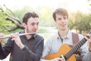 Jon Dyer (left) and Alfie_Gidley at Sharpham Spring Garden Open Day