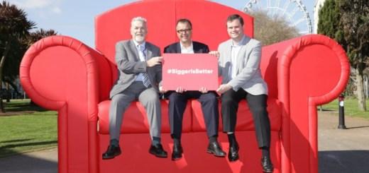 Local Cllr Derek Mill, Virgin Media Regional director Maurice Daw and Torbay MP Kevin Foster
