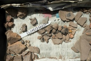 slag and pottery found in excavations at Ipplepen