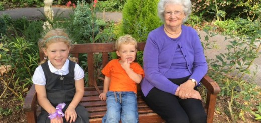 Andrea's mum, Jean, with two of her grandchildren.