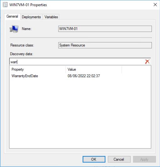 DDR Warranty Example