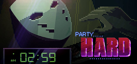 party hard game, party hard, 8 bit murder game, 3rd person games, single screen slasher,