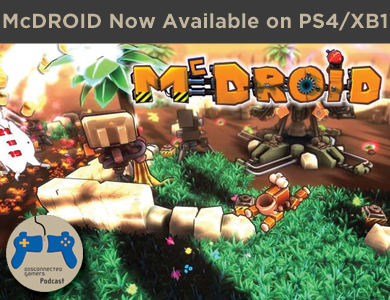 mcdroid, playstation 4, xbox one, indie games, indie base defense games, steam, grip digital,