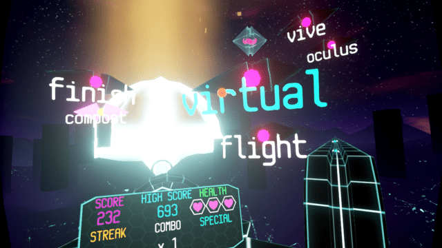 lazertype, new blood, vr typing game, virtual reality gaming, typing games,