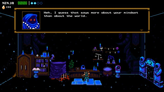 shopkeeper, the messenger game, ninja video game, sabotage studios, indie developer, indie ninja games,