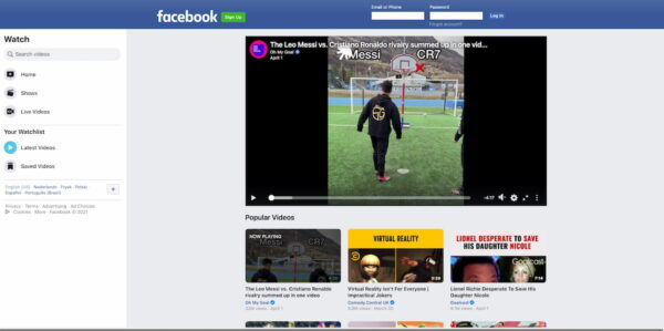 Best video hosting platforms: Facebook