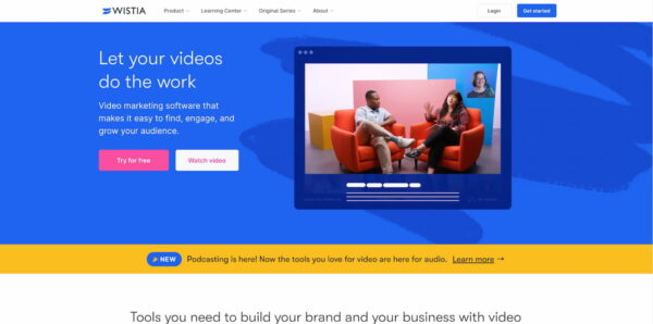 Best video hosting platforms: Wistia