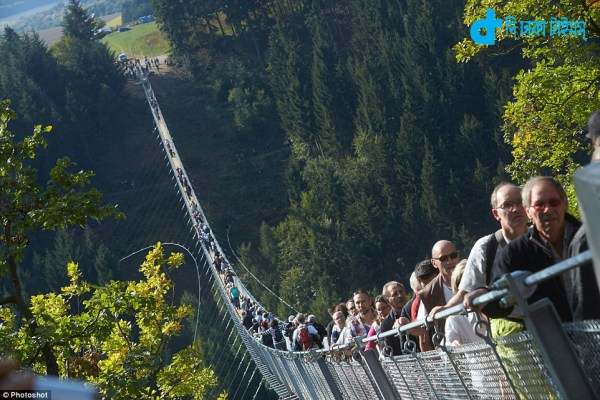 hanging bridge was opened in Germany