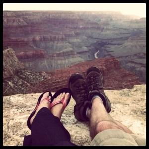 Couple enjoying Grand Canyon