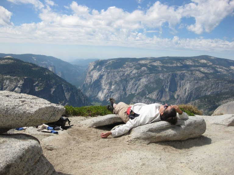 passed out on half dome
