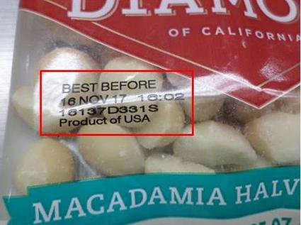 Diamond Nuts Recalled Nationwide