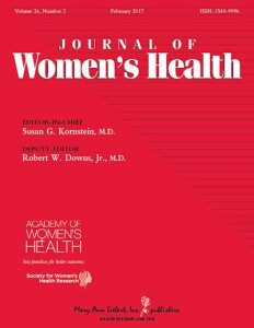 Cover: Journal of Women's Health