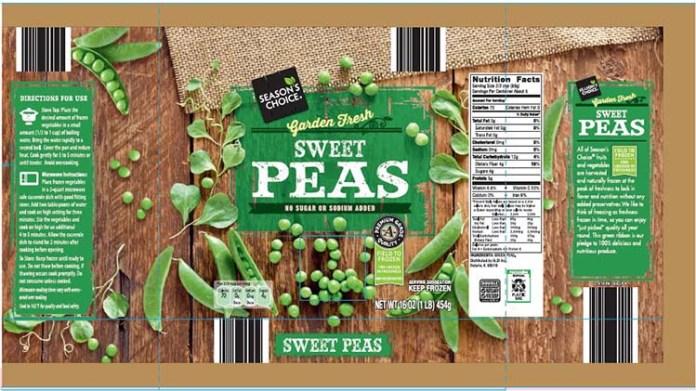 Aldi Frozen Sweet Peas recall