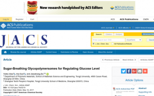 Sugar Sponge - Abstract from American Chemical Society