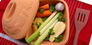 Clay Pot with Veggies - Vegetarian - and Vegan - Diet Lowers Cholesterol